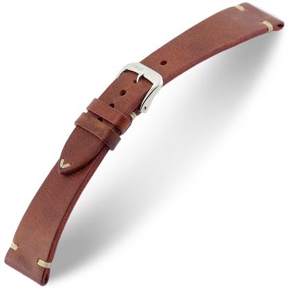 Rios Bedford Watch Strap Vintage Leather Mahogany