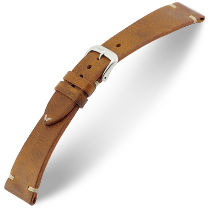 Rios Bedford Watch Strap Vintage Leather Cognac