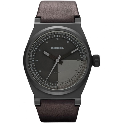 Diesel DZ1560 Watch Strap Dark Brown Leather