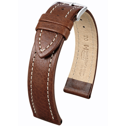 Hirsch Buffalo Artisan Watch Band Brown