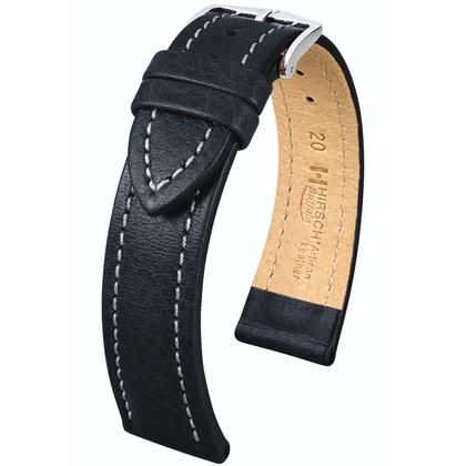 Hirsch Buffalo Artisan Watch Band Black
