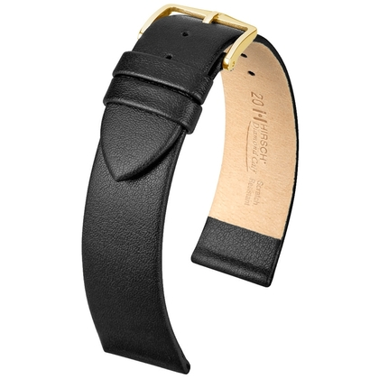 Hirsch Diamond Calf Watch Band Scratch Resistant Black