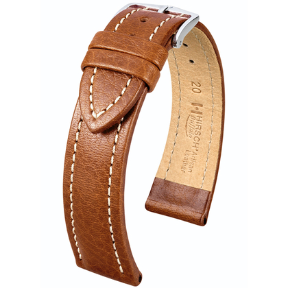 Hirsch Buffalo Artisan Watch Band Golden Brown