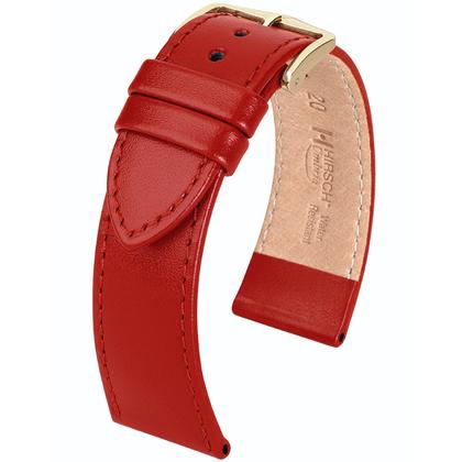 Hirsch Umbria Watchband Italian Calfskin Red