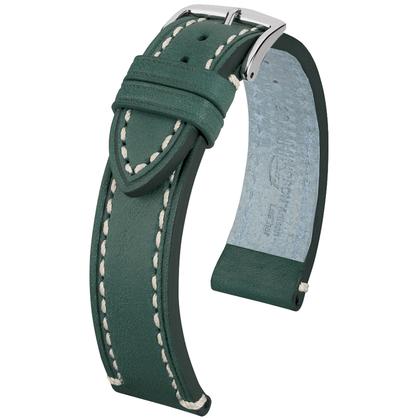 Hirsch Liberty Artisan Watchband Leather Green