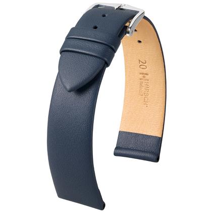 Hirsch Italocalf Watchband Dark Blue