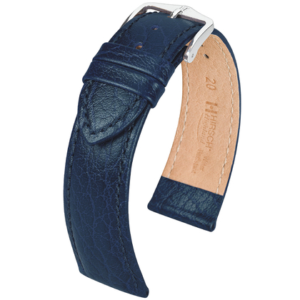 Hirsch Highland Watch Band Italian Calfskin Blue