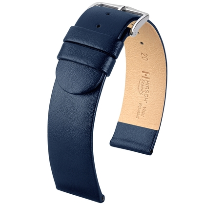 Hirsch Scandic Watch Band Calf Skin Blue