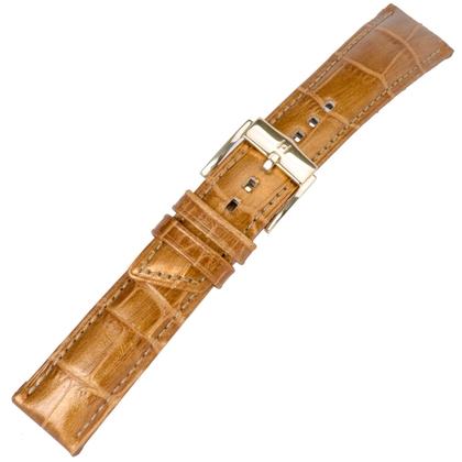 Hirsch Princess Pretiosa Watchband Alligatorgrain Gold