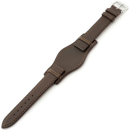 Rios Tula Bund Watch Strap Russian Leather Brown