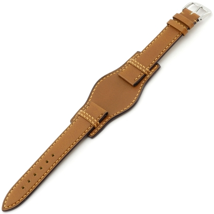 Rios Tula Bund Watch Strap Russian Leather Honey