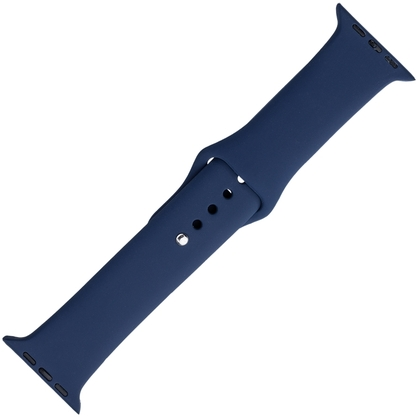 Apple Watch Strap Blue Silicone Rubber