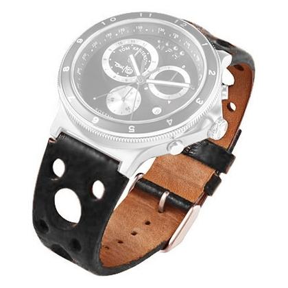 Rosendahl Tom Kristensen MPH Watch Strap Black Leather
