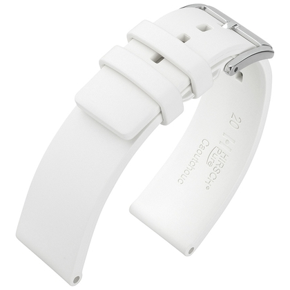 Hirsch Pure Watch Band Caoutchouc White