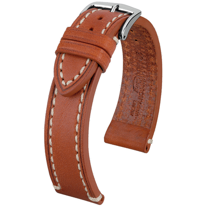 Hirsch Liberty Artisan Watch Band Leather Golden Brown