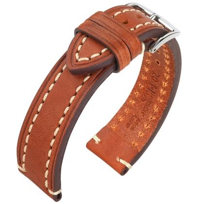 Hirsch Liberty Artisan Watch Band Leather Golden Brown