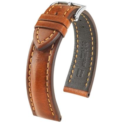 Hirsch Lucca Artisan Watchband Golden Brown