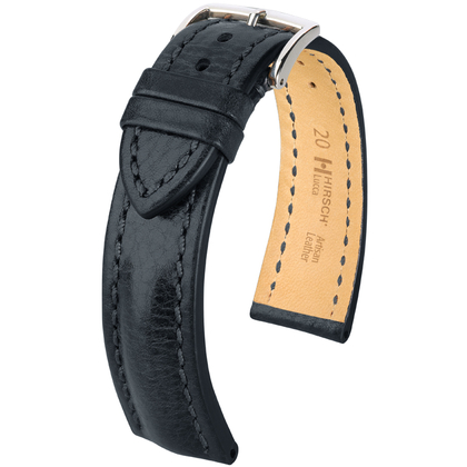 Hirsch Lucca Artisan Watchband Black
