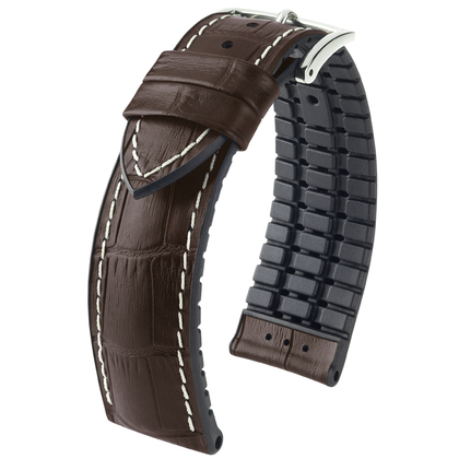 Hirsch George Performance Collection Brown/Black Leather/Rubber 300m WR