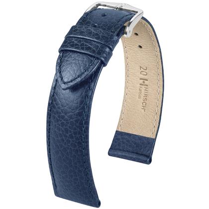 Hirsch Kansas Watchband Buffalograin Blue