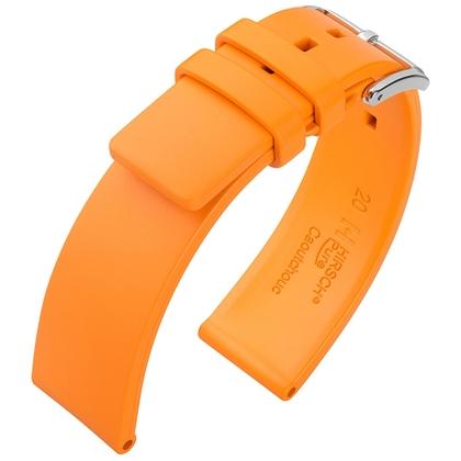 Hirsch Pure Watch Band Caoutchouc Orange