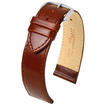 Hirsch Osiris Watch Band Box Leather Brown