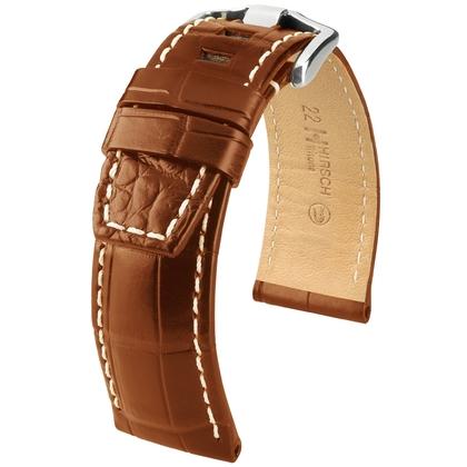 Hirsch Tritone Watch Strap for Panerai Nile Crocodile Skin Semi-Matte Golden Brown