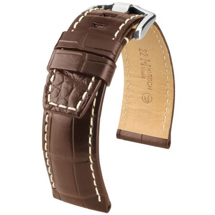 Hirsch Tritone Watch Strap for Panerai Nile Crocodile Skin Semi-Matte Brown