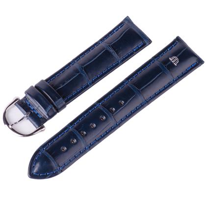 Maurice Lacroix Watch Strap Mississippi Alligator Dark Blue 20mm