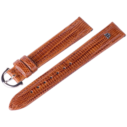 Maurice Lacroix Watch Strap Tejus Lizard Cognac 14, 15, 16, 17, 19 and 20 mm