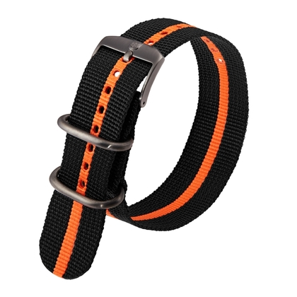 Luminox 3050, 3060, 3080, 3090, 3150, 3950 ZULU Strap Black Orange Nylon 23mm - FN.3950.35