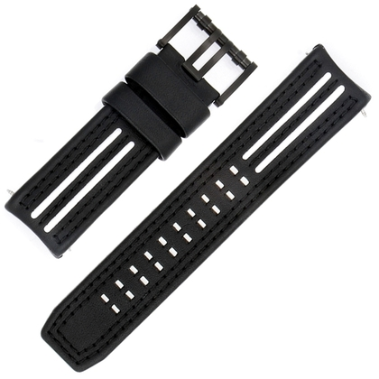 Luminox Tony Kanaan Models 1146/1147 Watch Strap Black and White Leather 26mm - FE.1140.21B