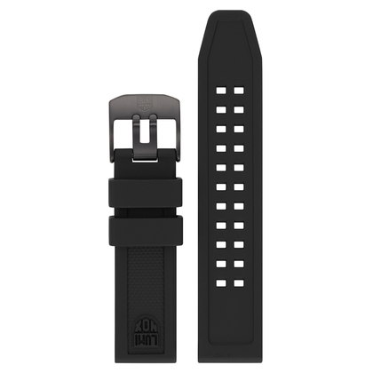 Luminox 7050 7060 Series Watch Strap Black Rubber 20mm - FP.7050.20B