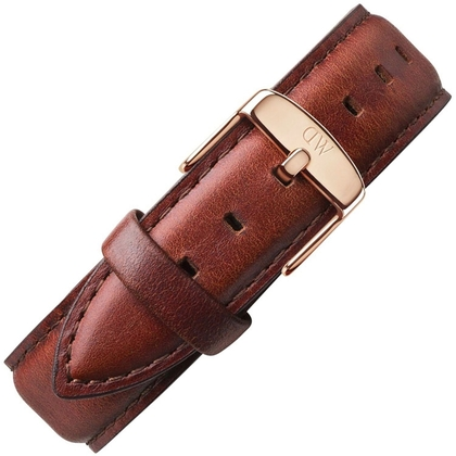 Daniel Wellington 20mm Classic St Mawes Brown Leather Watch Strap Rosegolden Buckle