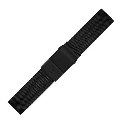 Daniel Wellington 12mm Petite Ashfield Mesh Watch Bracelet Black