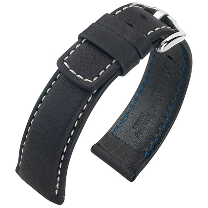 Hirsch Mariner Watch Strap 100m Waterproof Black