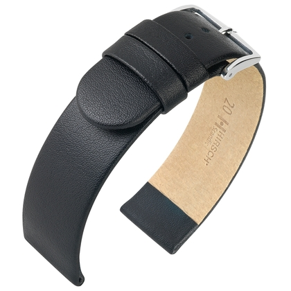 Hirsch Scandic Watch Band Calf Skin Black