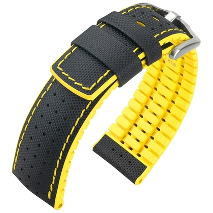 Hirsch Robby Performance Collection Black/Yellow Leather/Caoutchouc 300m WR