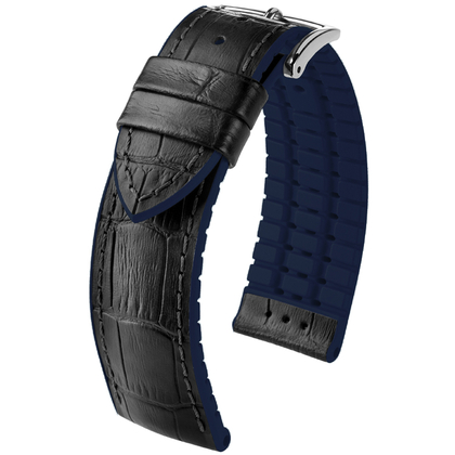 Hirsch Andy Performance Collection Black/Blue Leather/Rubber 300m WR
