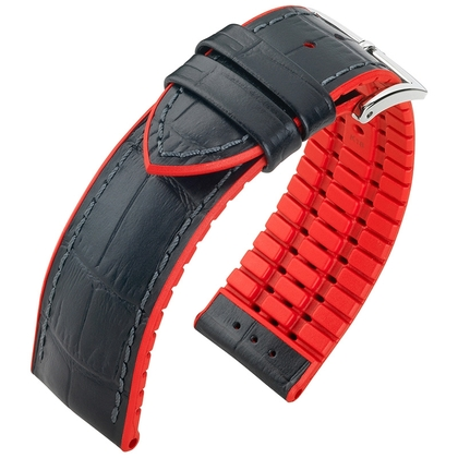 Hirsch Andy Performance Collection Black/Red Leather/Rubber 300m WR