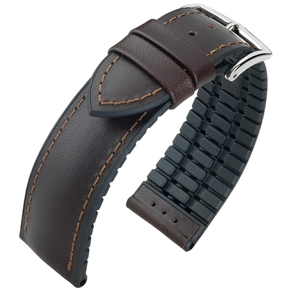 Hirsch James Performance Collection Brown/Black Leather/Caoutchouc 300m WR
