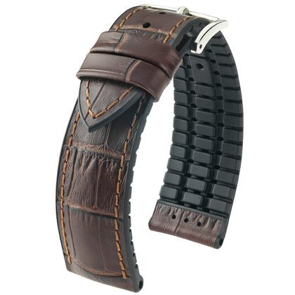 Hirsch Paul Performance Collection Dark Brown/Black Leather/Caoutchouc 300m WR