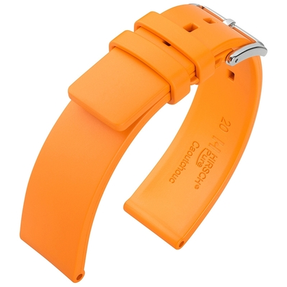 Hirsch Pure Watch Band Caoutchouc Orange