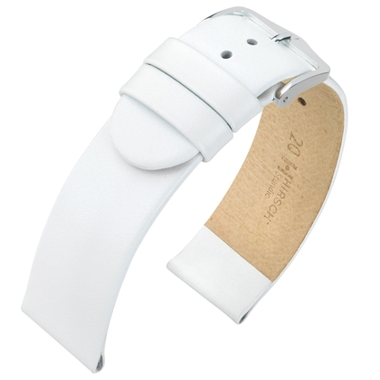 Hirsch Scandic Watch Band Calf Skin White