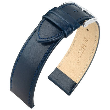 Hirsch Osiris Watch Band Box Leather Blue