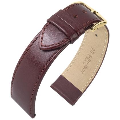 Hirsch Osiris Watch Band Box Leather Burgundy
