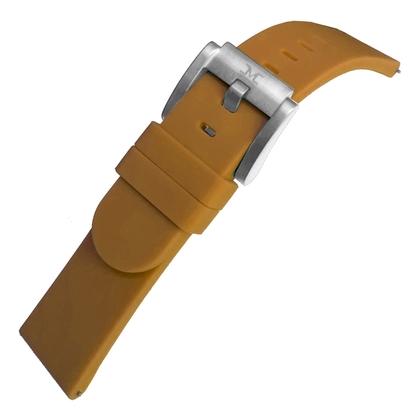 Marc Coblen / TW Steel Silicone Watch Strap Camel 22mm