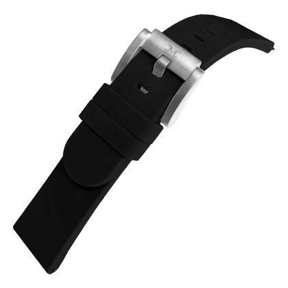Marc Coblen / TW Steel Silicone Watch Strap Black 22mm
