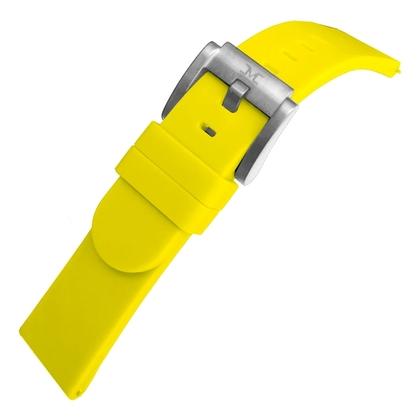 Marc Coblen / TW Steel Silicone Watch Strap Yellow 22mm