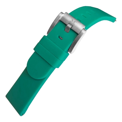 Marc Coblen / TW Steel Silicone Watch Strap Emerald Green 22mm
